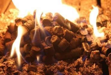горение пелета из торфа